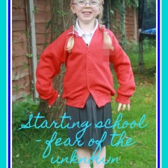 Starting school – fear of the unknown