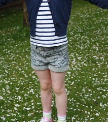What she wore: Next shorts and Tshirt