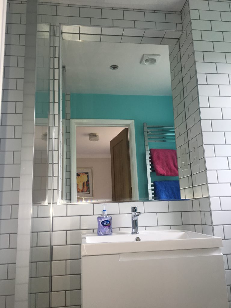 New bathroom, The new ensuite bathroom, Ensuite, Mirror, 2018 - that was the year that was