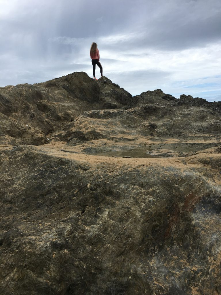 Daughter, Beach, Rocks, Cornwall, Newquay, Holiday, 365