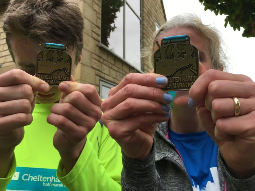 Medals, Cheltenham half marathon, Mum, Son, Runners, 365