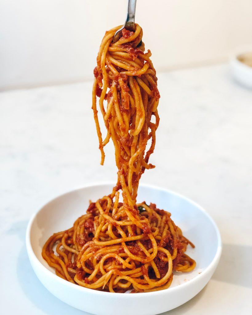 Spaghetti, Carb loading, Carbs, Training, Marathon training, Carb loading and the marathon weight gain