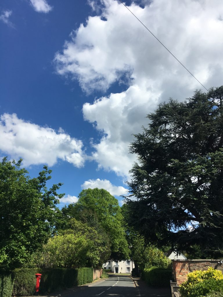 Blue sky, Village, 365