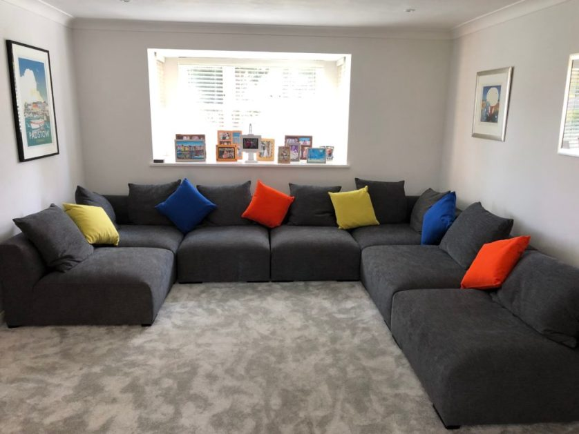 New settee, Sofa, Lounge, The new lounge