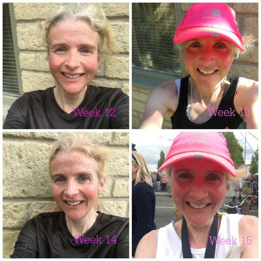 Marathon training, Newport marathon, Marathon training weeks 12 to 15