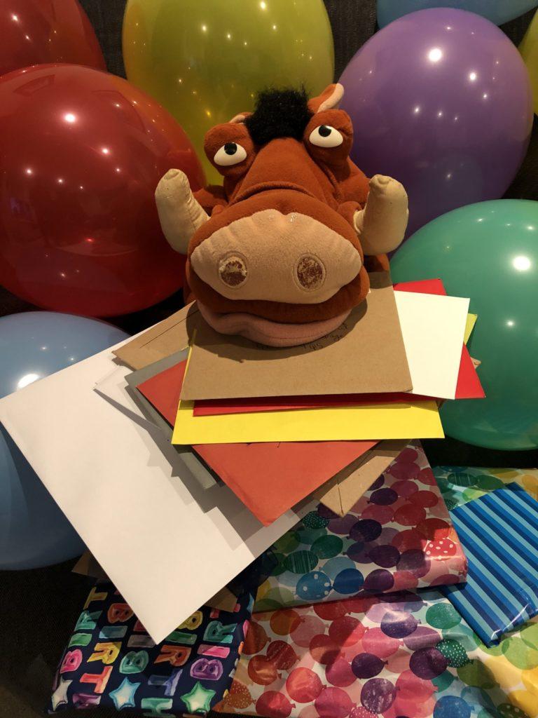 Pumba, Birthday presents, Birthday cards, Balloons, Silent Sunday, My Sunday Snapshot