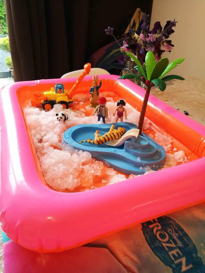 tuff tray alternative - inflatable play tray