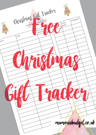 free christmas gift list tracker printable