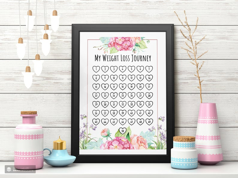Weight Loss Tracker Printables: find super cute motivational charts here