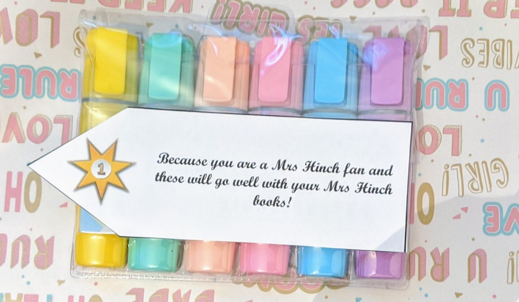 Pastel highlighters with 21st birthday tag