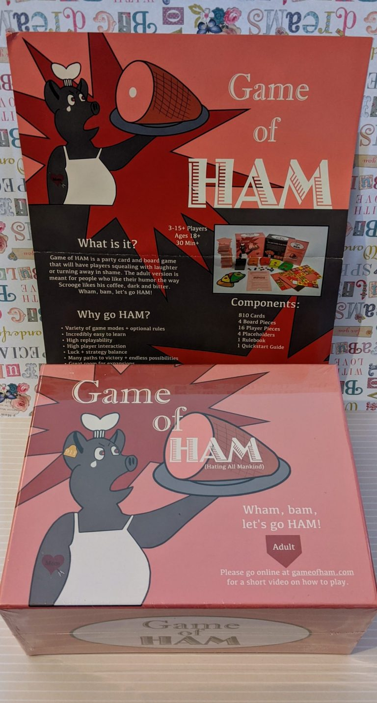 Game of ham with display poster