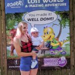 Chloe and Keaton at a photo point in Roarr