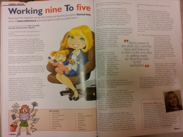Cute Honey in Irish Parent Magazine April 13