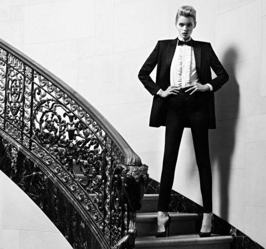 What do you get when you pair a tuxedo with stilettos?