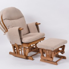 Comfy Nursing Chair Purple Chairs For Bedroom Habebe Glider And Stool  Oak Wood Cream Washable