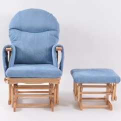 Blue Glider Chair Metal And Wood Chairs Habebe Stool  Beech Washable