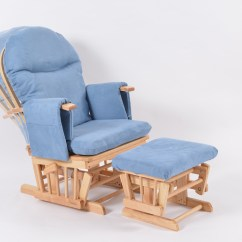 Blue Glider Chair Adirondack Chairs Recycled Materials Habebe And Stool  Beech Wood Washable