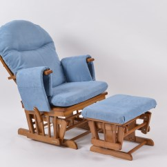 Blue Glider Chair Best Chairs Inc Ferdinand In Phone Number Habebe And Stool  Oak Wood Washable