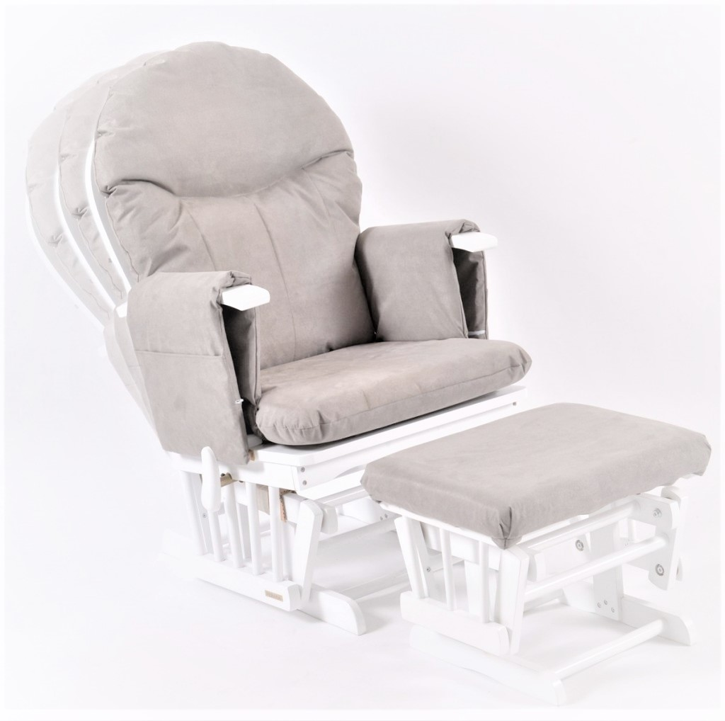 maternity rocking chair black leather dining chairs with legs habebe glider and stool  white wood grey washable