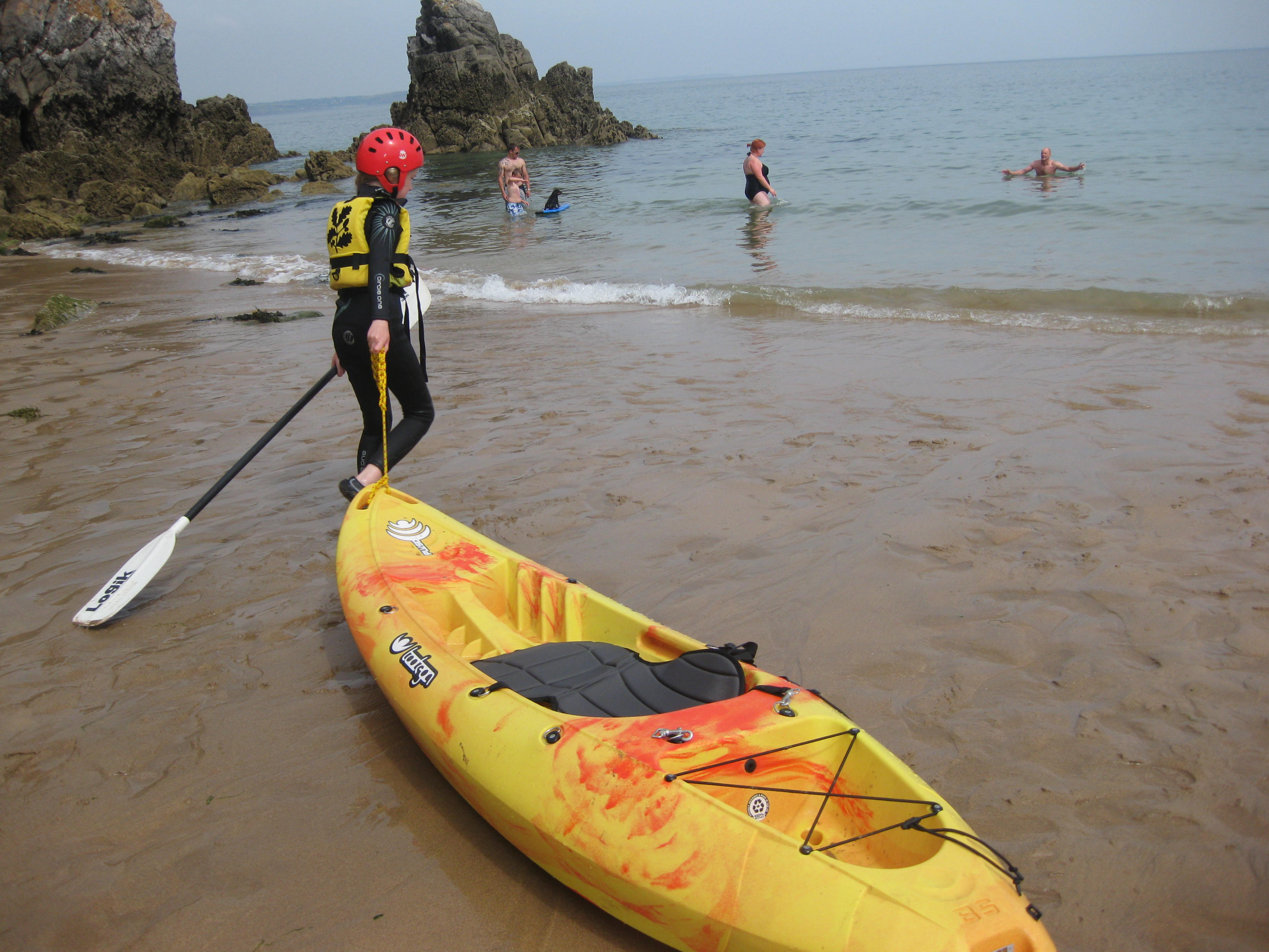 kayaking at stackpole