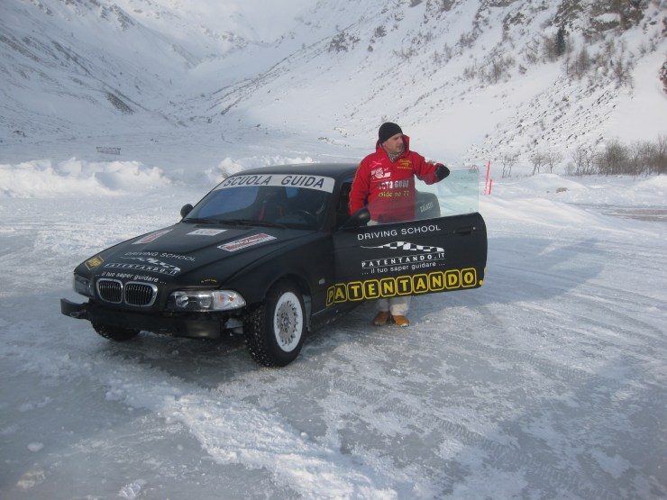 Ice driving instructor Omar, Madesimo