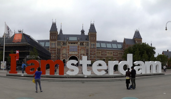 Outside the Rijksmuseum. Copyright Gretta Schifano