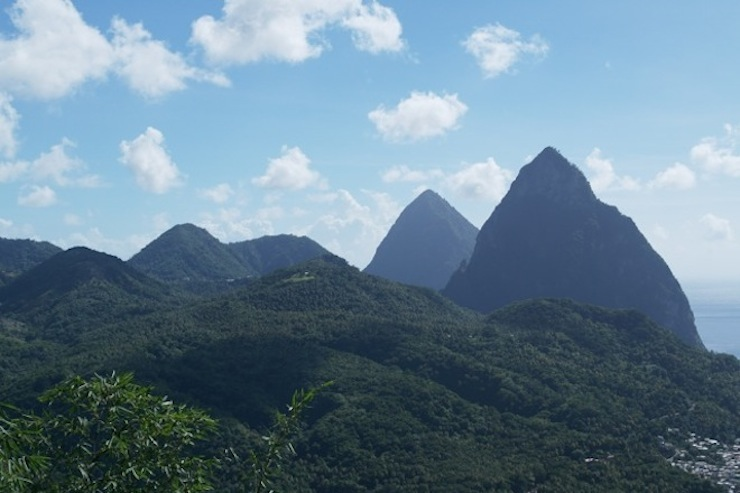 Piton Mountains, St Lucia. Copyright Sharmeen Ziauddin