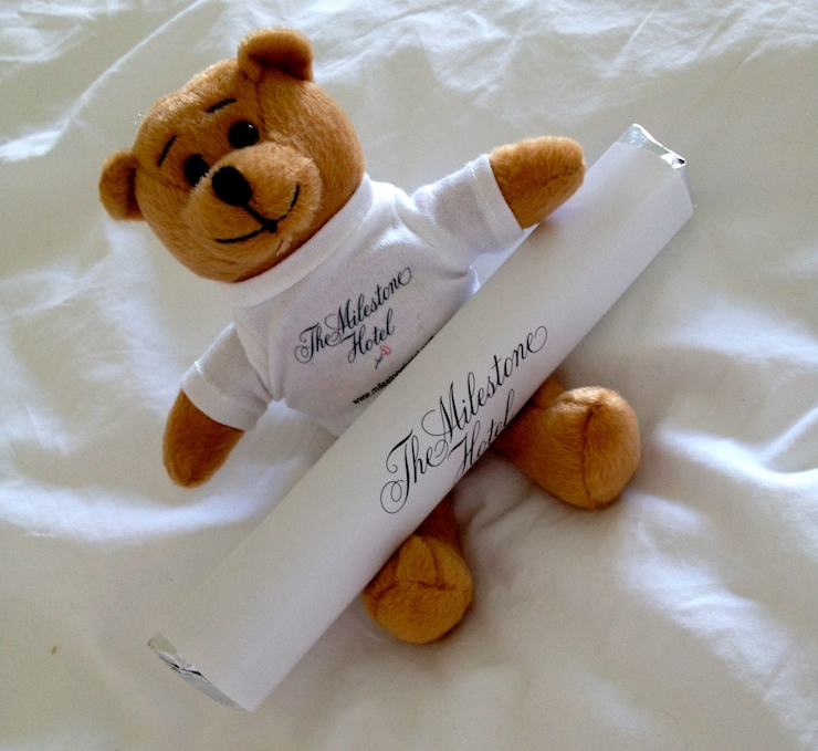 The Milestone Hotel teddy and chocolate giveaway