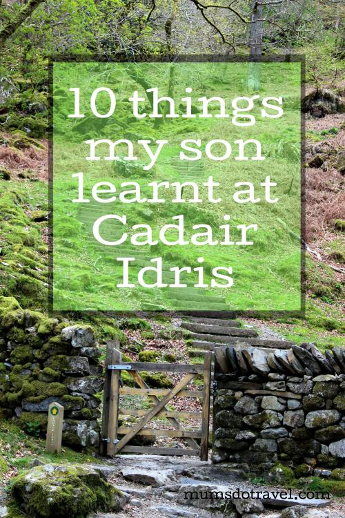 10 things my son learnt at Cadair Idris