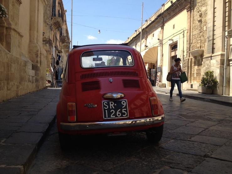 Fiat 500, Noto, Sicily. Copyright Gretta Schifano