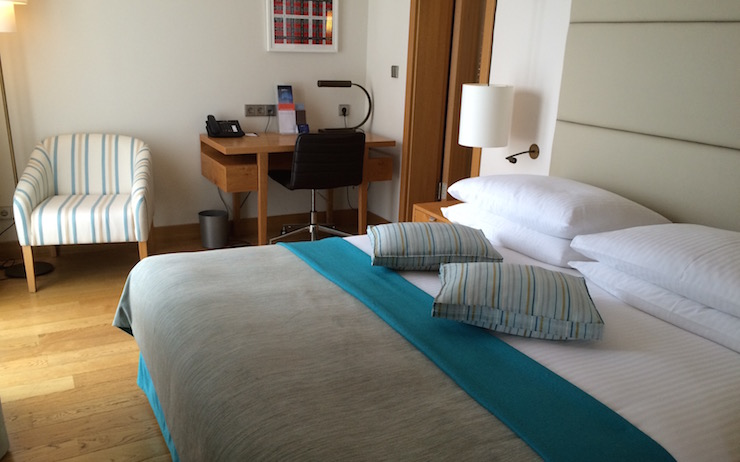 Double room at Dubrovnik Sun Gardens. Copyright Gretta Schifano