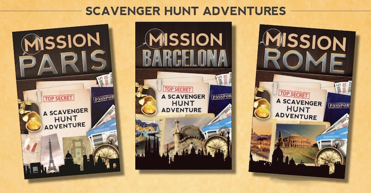 Scavenger Hunt Adventure books. Copyright Catherine Aragon