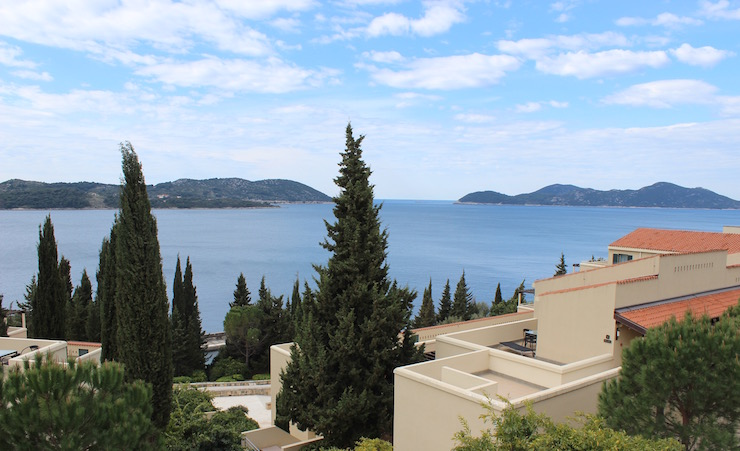 View of Adriatic from Dubrovnik Sun Garens resort, Dubrovnik. Image copyright Gretta Schifano
