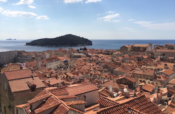 Lokrum island seen from Dubrovnik city walls. Copyright Gretta Schifano