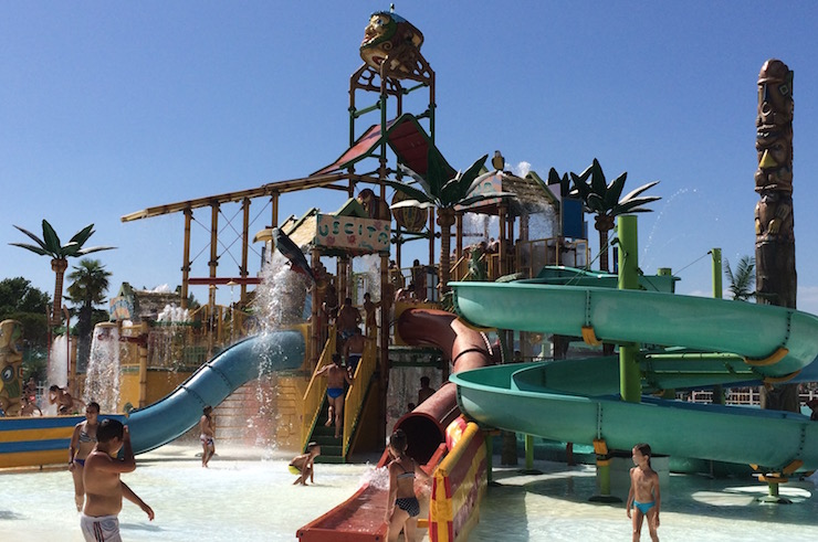 El Castillo water slides at Mirabilandia Beach. Copyright Gretta Schifano