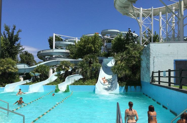 Slides at Aquafan. Copyright Gretta Schifano