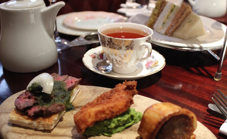 Gentleman's afternoon tea, Reform Social & Grill. Copyright Gretta Schifano