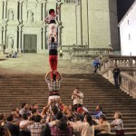 Human towers in Girona