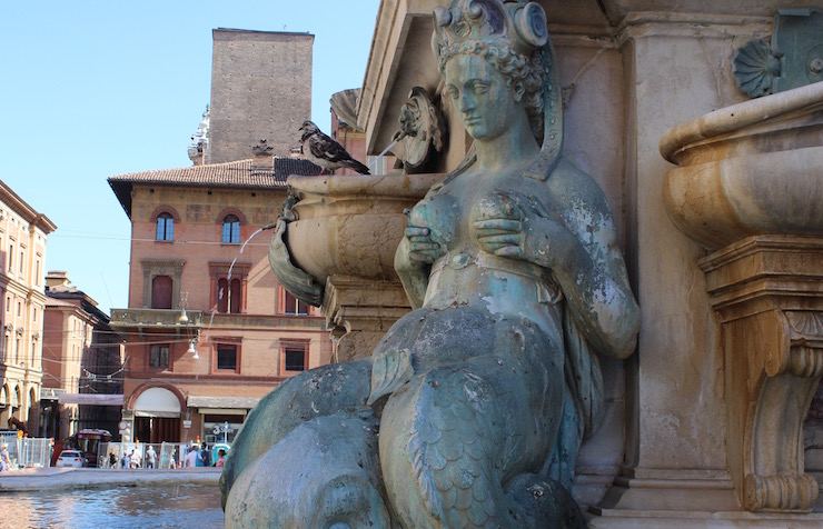 Mermaid, Neptune's Fountain, Bologna. Copyright Gretta Schifano