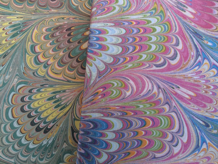 Handmade marbled paper, Florence. Copyright Gretta Schifano
