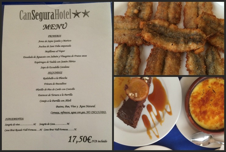 Lunch at Can Segura Hotel Restaurant. Copyright Gretta Schifano