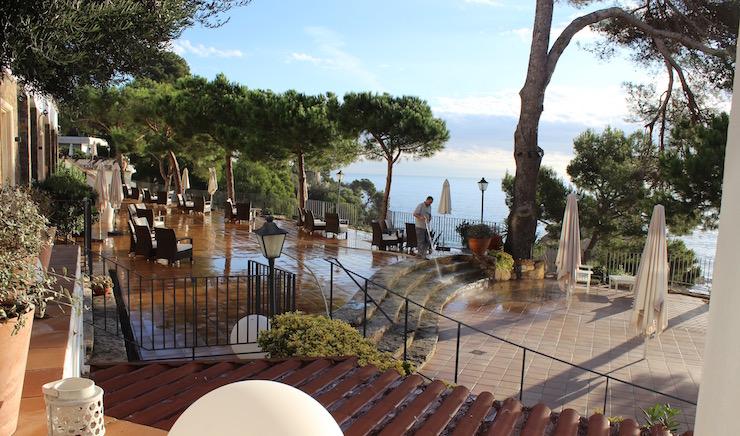 Terrace at Hotel Silken Park San Jorge. Copyright Gretta Schifano