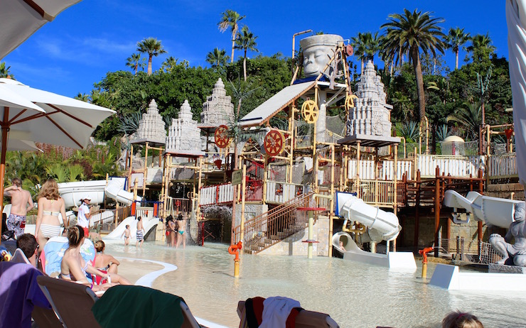 Lost City play area, Siam Park, Tenerife. Copyright Gretta Schifano