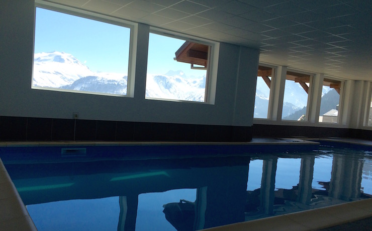Indoor pool at Les Balcons d'Auréa, France. Copyright Gretta Schifano