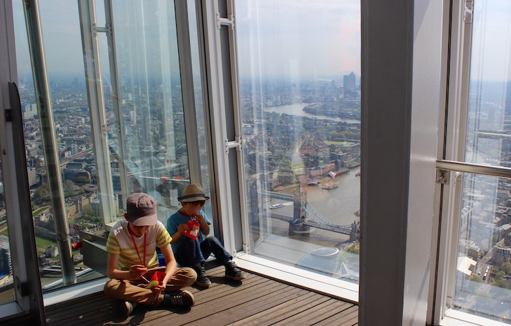 The View from the Shard viewing platform. Copyright Gretta Schifano