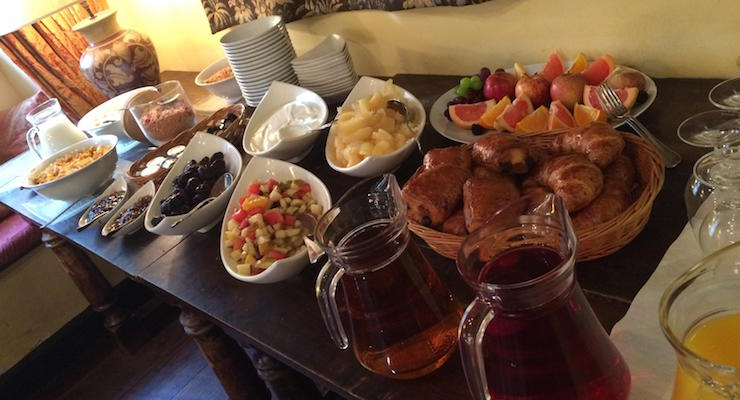 Breakfast buffet, Star Castle Hotel, Isles of Scilly. Copyright Gretta Schifano