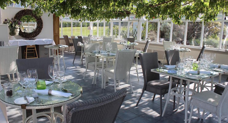 Conservatory Restaurant, Star Castle Hotel. Copyright Gretta Schifano