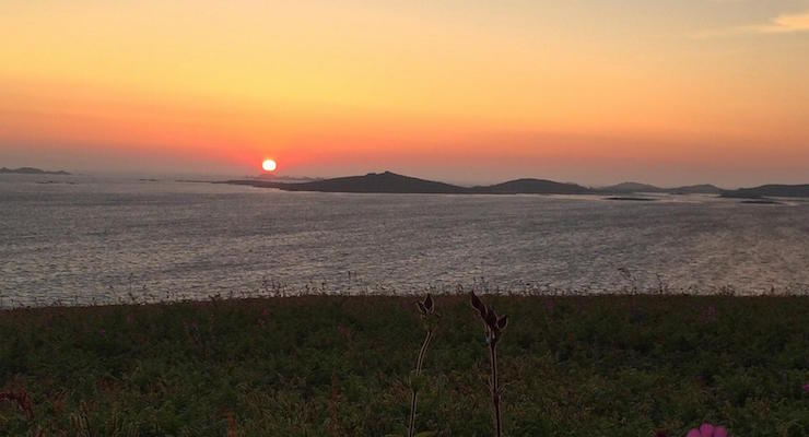Watching the sunset from Star Castle Hotel, Isles of Scilly. Copyright Gretta Schifano
