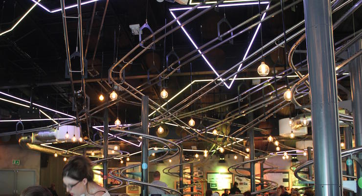 Rollercoaster Restaurant, Alton Towers. Copyright Gretta Schifano