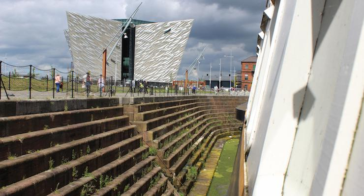 Titanic Belfast Experience building seen from SS Nomadic. Copyright Gretta Schifano